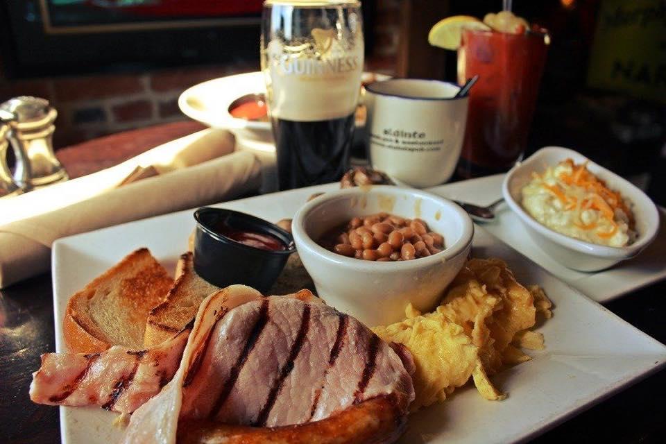 breakfast from slainte irish pub baltimore