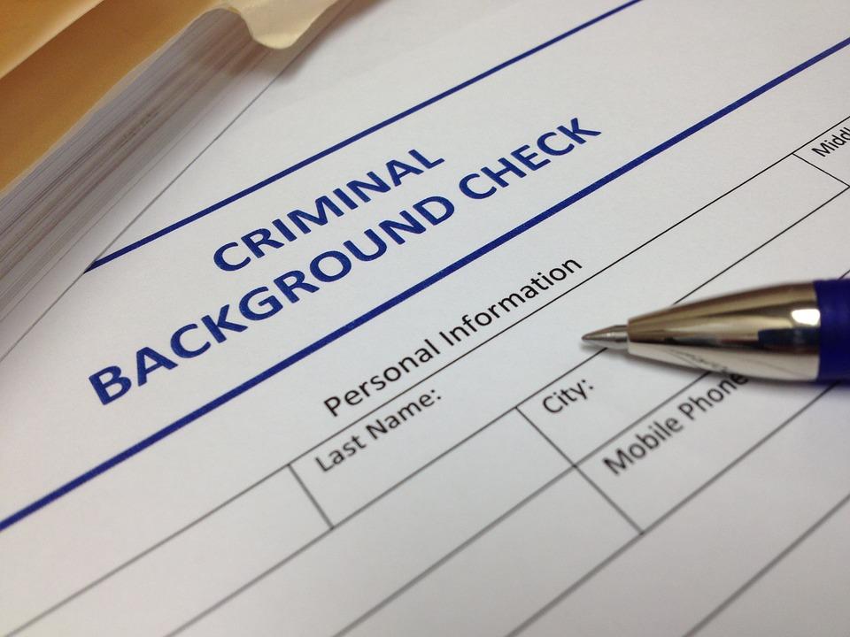 criminal background check form