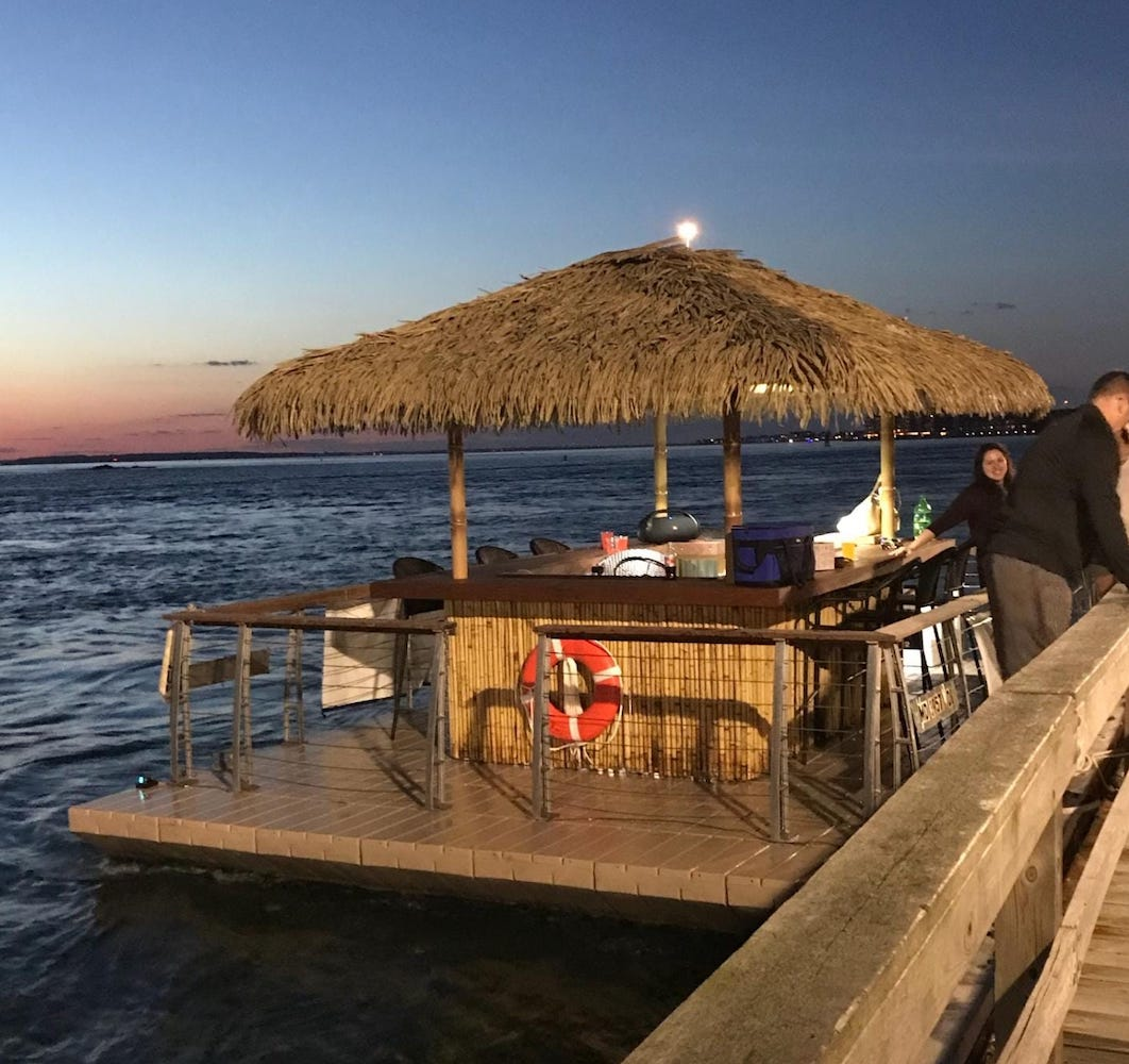 Float Around Ocean City This Summer on a Tiki Bar Boat