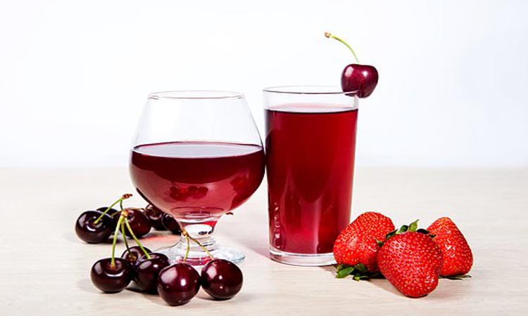 Tart cherry juice is good for your health.