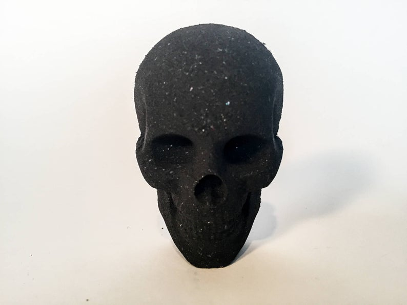 Black Charcoal Skull Bath Bomb