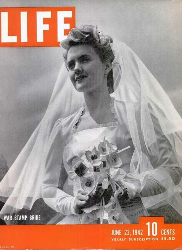 life magazine war stamp bride