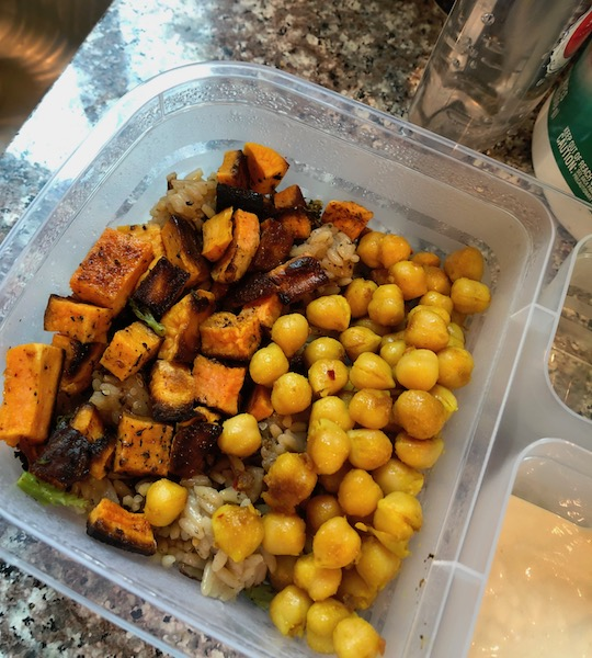 chickpeas and sweet potatoes