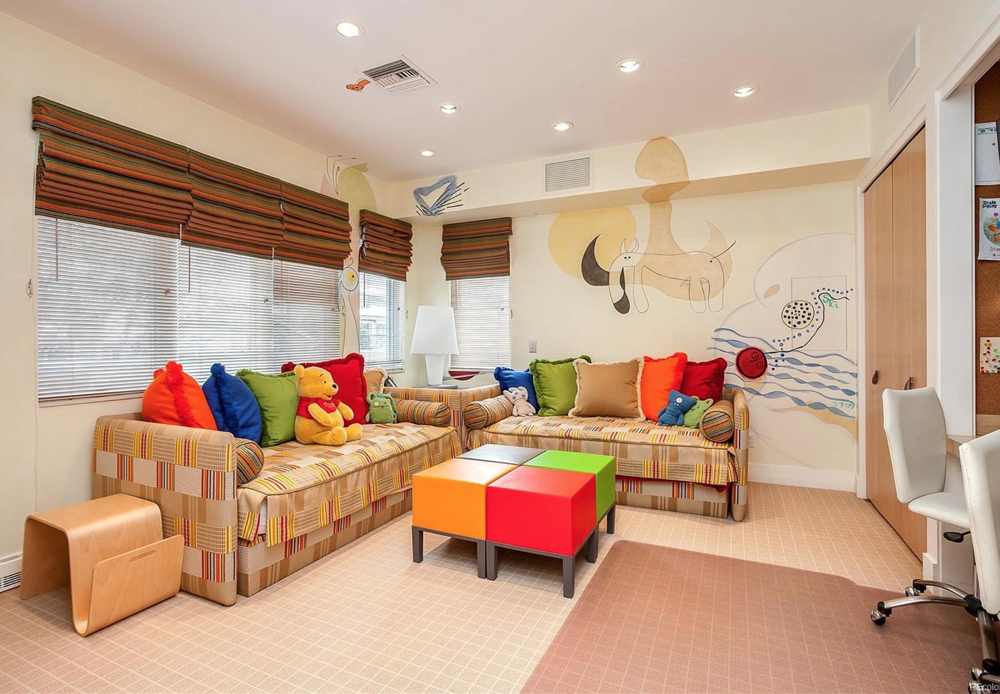 Playroom and yoga room