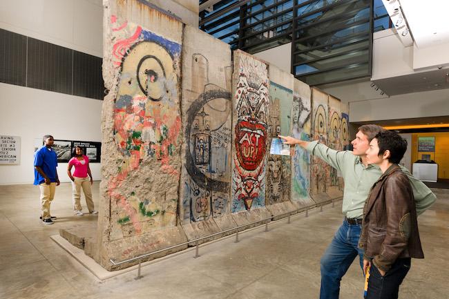 Berlin Wall at the Newseum. credit Sam Kittner, Newseum