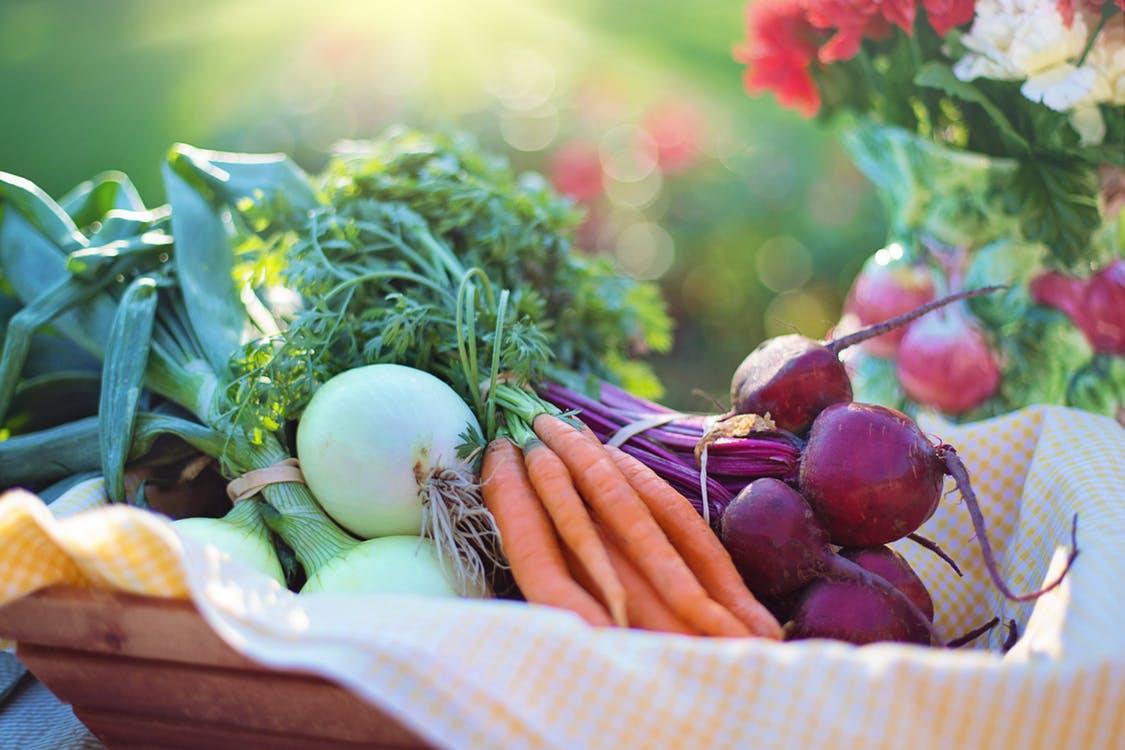 vegetables, basket