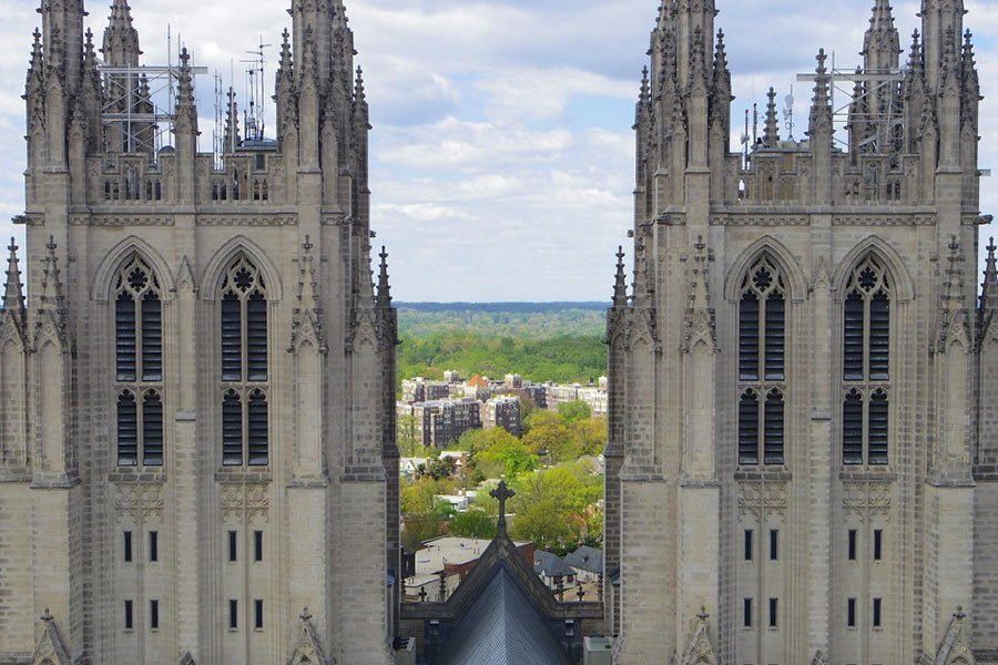 view of the washington national cathedral