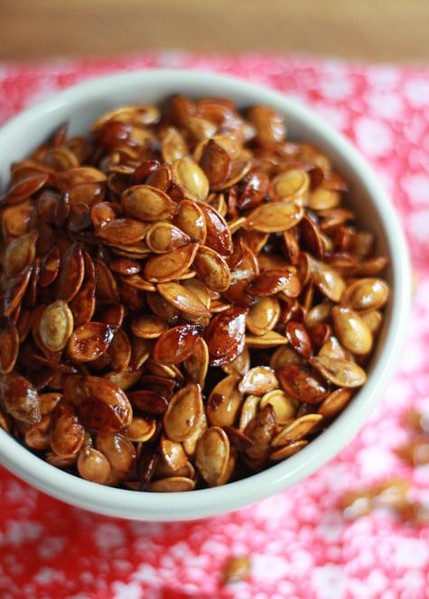 honey-roasted pumpkin seeds