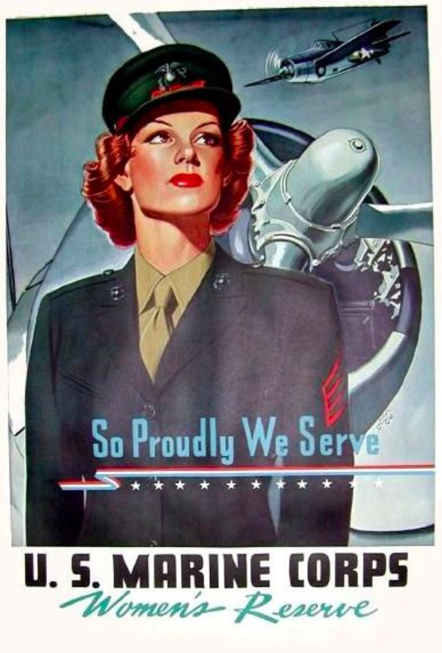 womens marine corps reserve poster