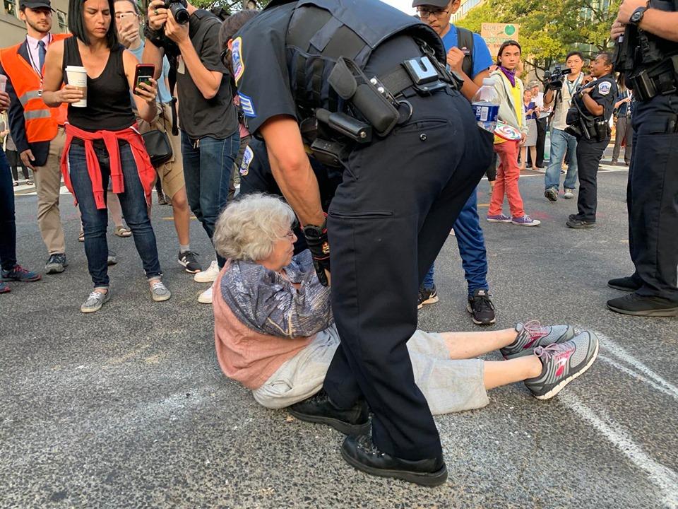 arrest, protester