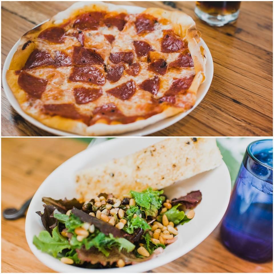 sazza organic and sustainable pizza and salad