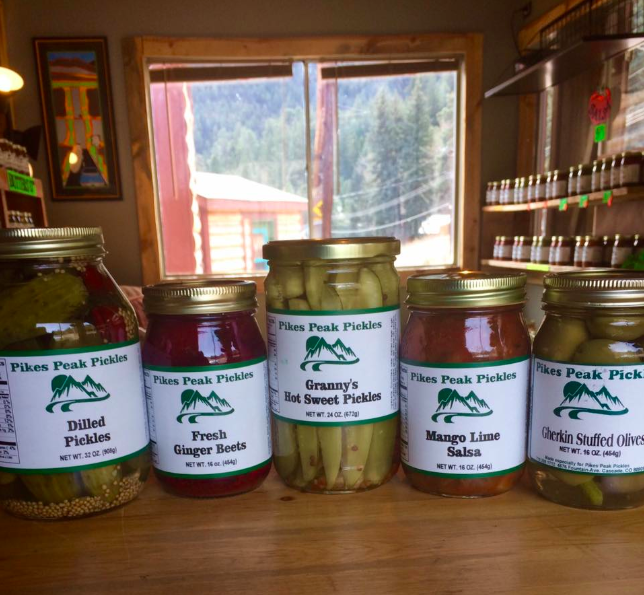 pickles at the pickle shack near pikes peak