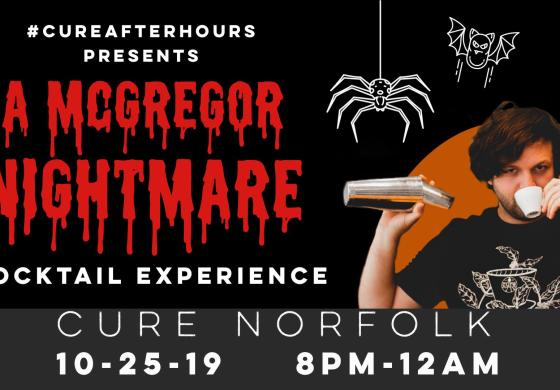 A McGregor Nightmare Cocktail Experience Banner