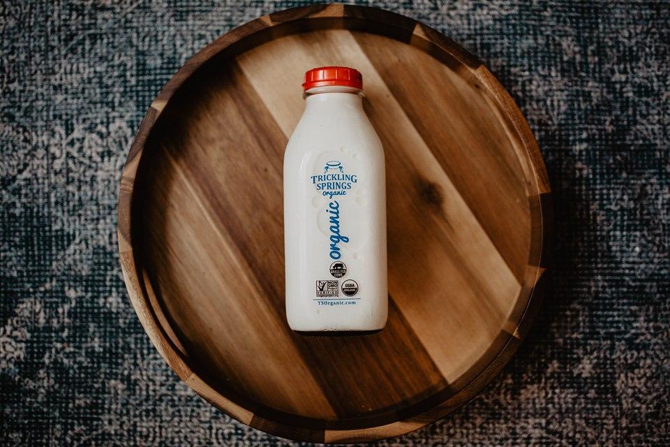 milk, glass bottle